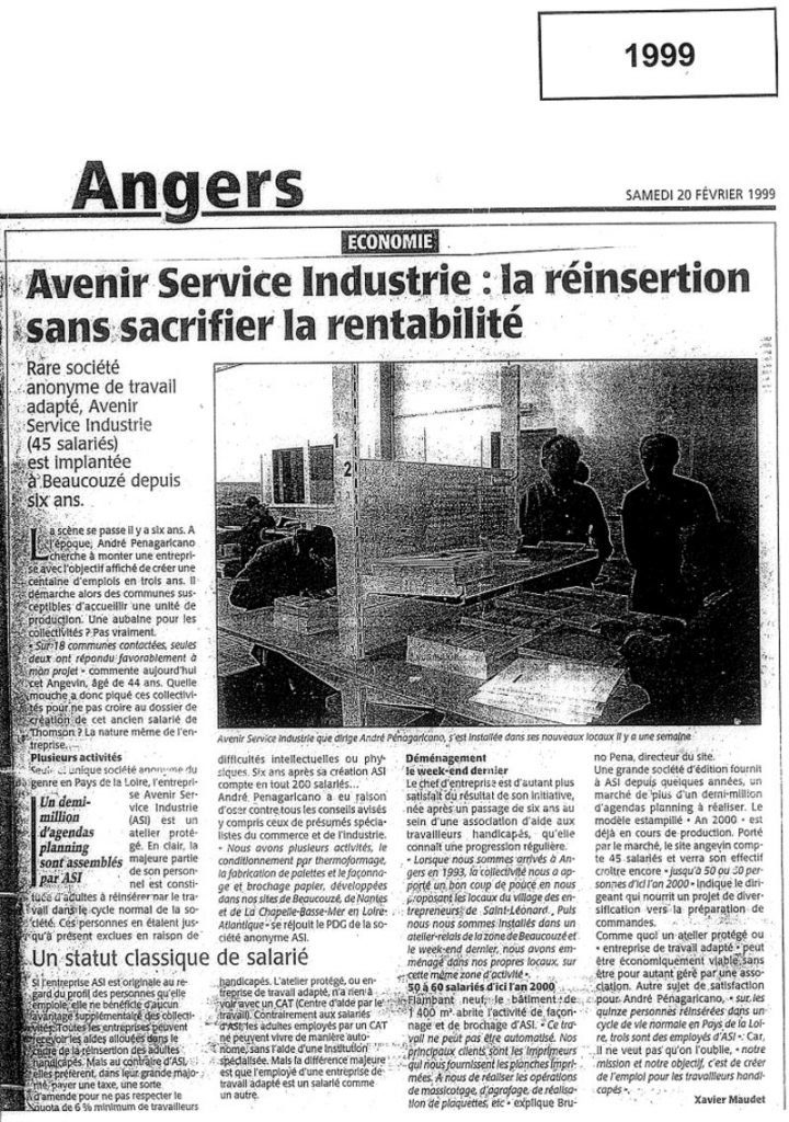 Article Angers 1999
