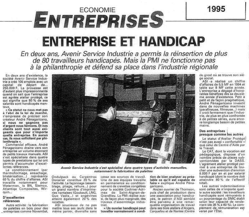 Article Economie Entreprises 1995