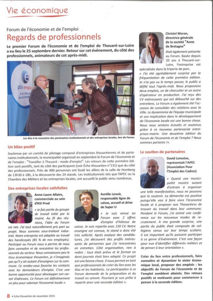 Article Vie Economique 2015
