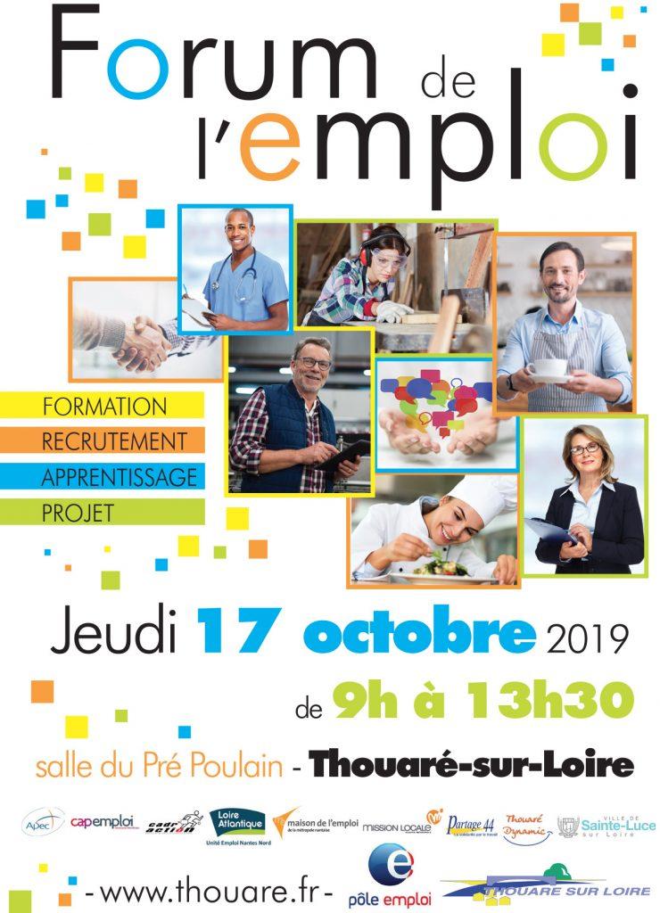 Affiche du Forum de l'emploi 2019