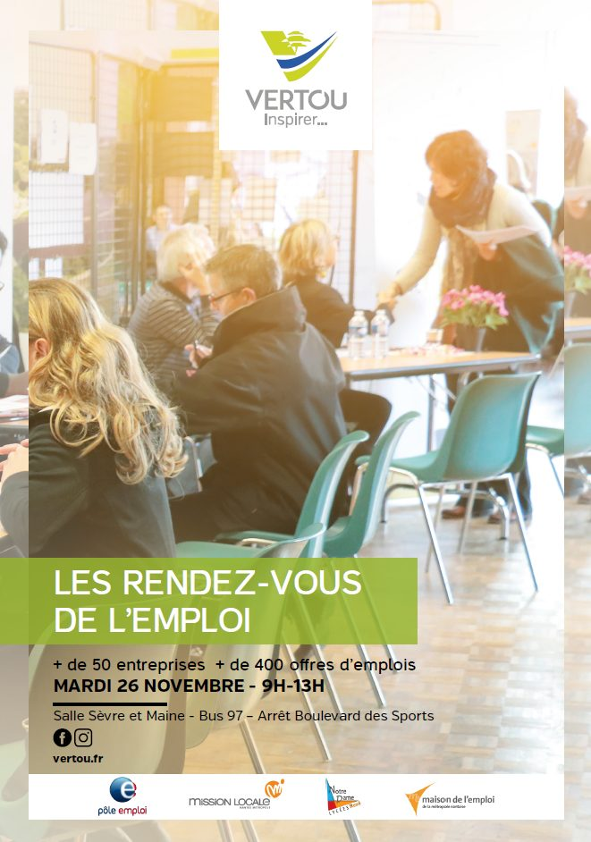 Affiche forum de l'emploi 2019 Vertou