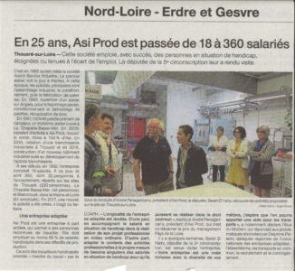 20180518 - Ouest France - En 25 ans, ASI PROD est passé de 18 à 360 salariés