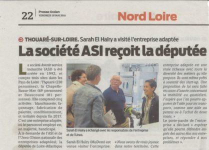 20180518 - Presse Océan - La société ASI reçoit la députée