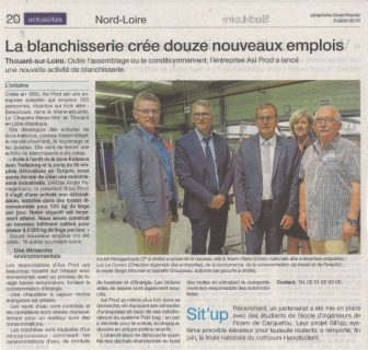 Article Inauguration blanchisserie Ouest France